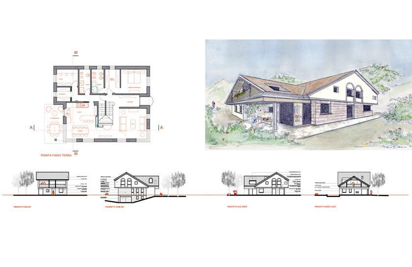 Progetti studio per l 39 architettura pierre baiocco - Progetto completo casa unifamiliare ...
